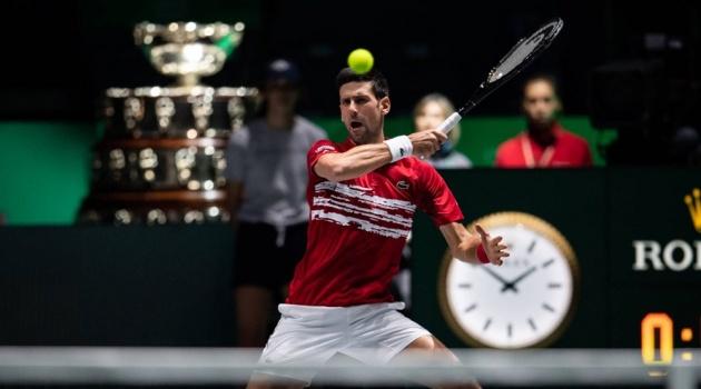 Davis Cup: Djokovic thắng đẹp, Serbia thẳng tiến vào tứ kết